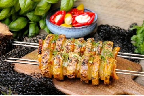 Картофель с салом курдюком